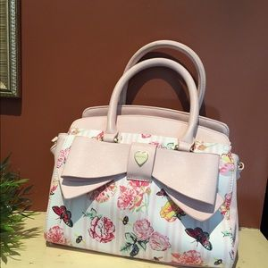 BETSY JOHNSON Handbag & Crossbody with Flowers